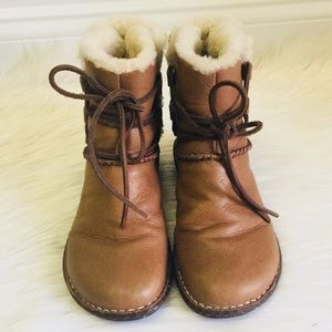 UGG Lace Up Leather Boots